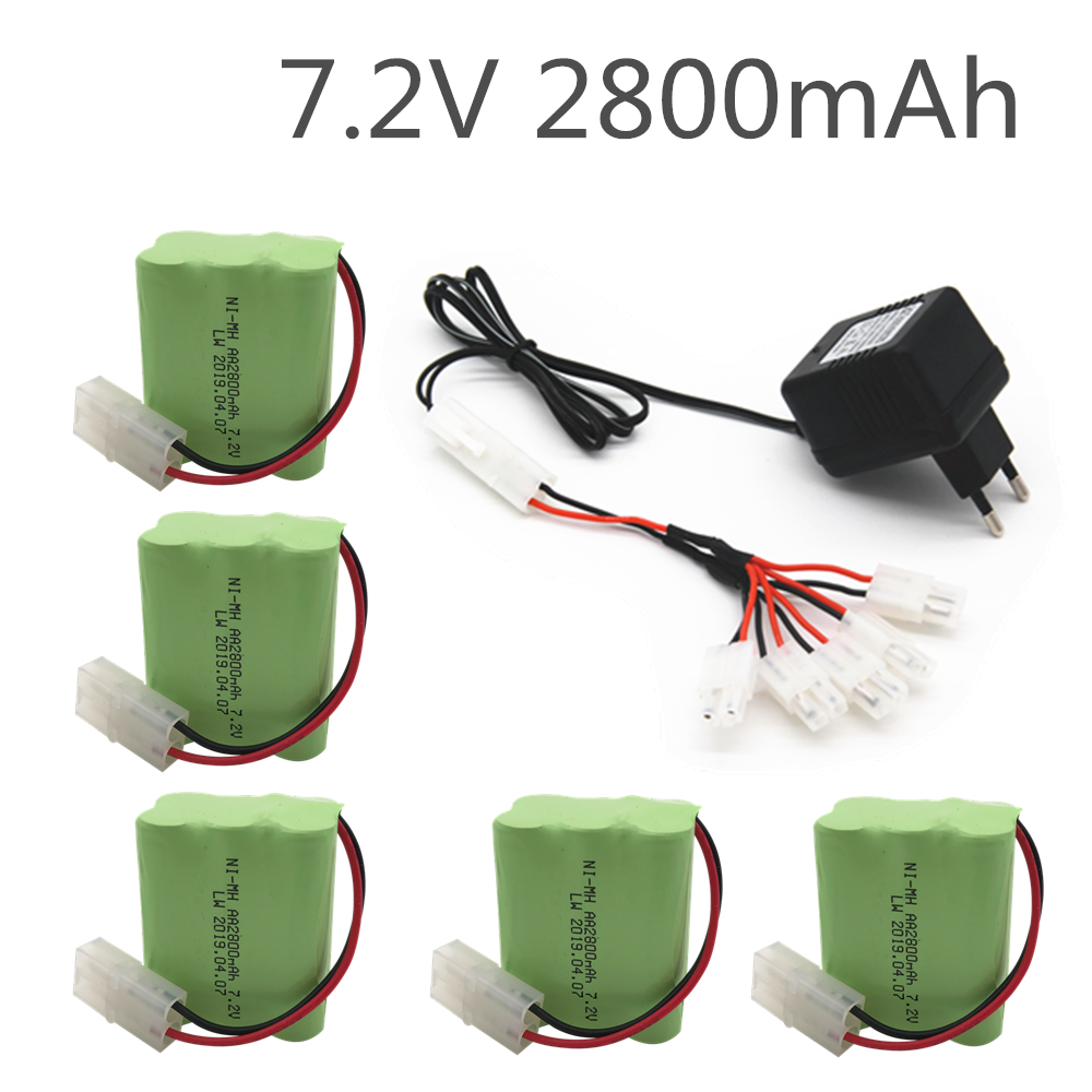 <font><b>7.2v</b></font> 2800mah AA NI-MH Battery <font><b>Tamiya</b></font> with charger High capacity electric toy battery Remote car ship robot rechargeable 7.2 v image