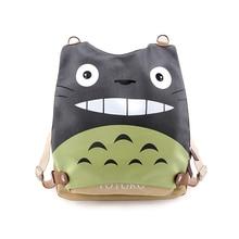 цены на E-Mell Sword Art Online Fate Zero Natsume's Book Kumamon GINTAMA Totoro Multifunction Single shoulder PU canvas bag Backpack  в интернет-магазинах