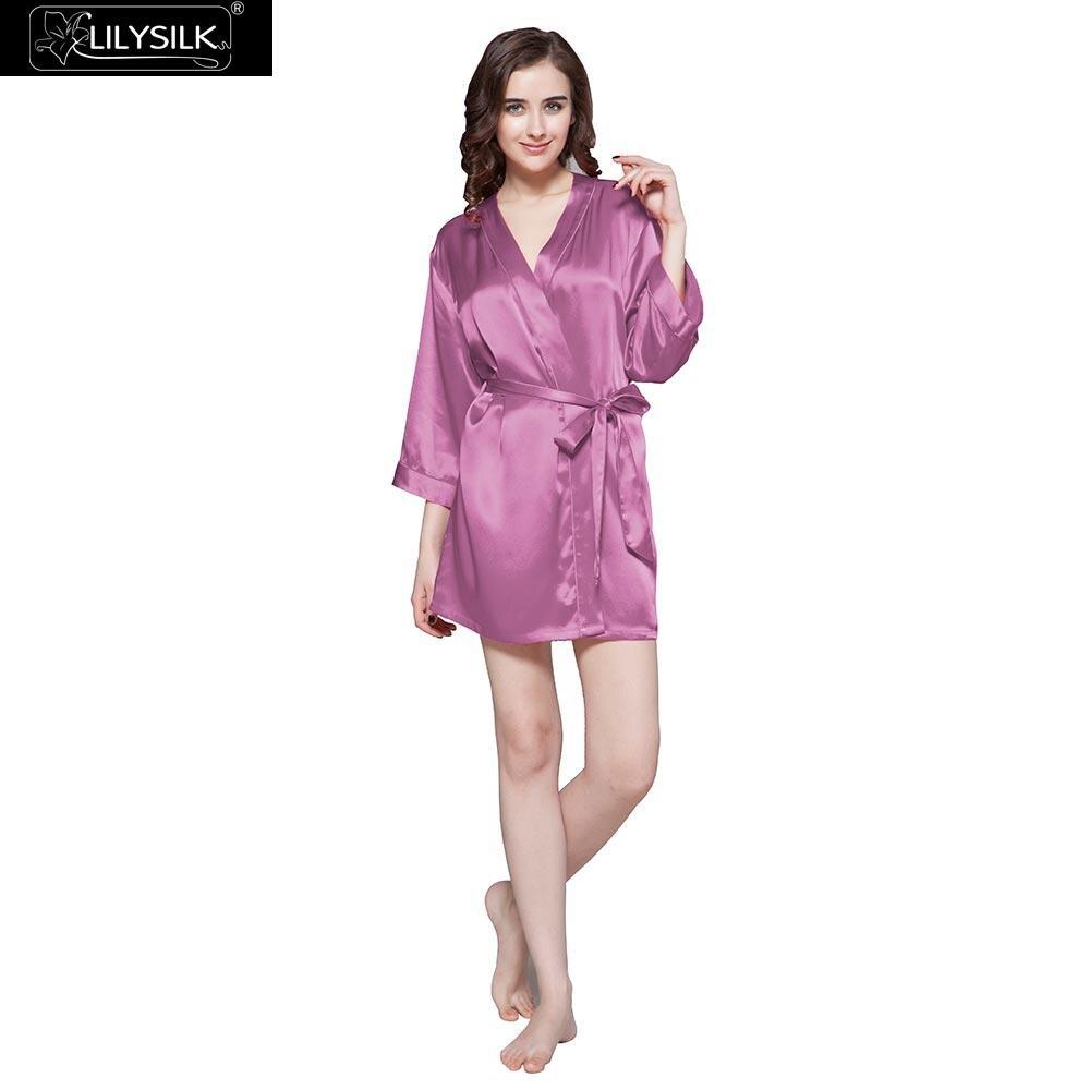 Silk Dressing Gowns Ladies: LilySilk Robe Bathrobe Sleepwear Kimono Dressing Gowns