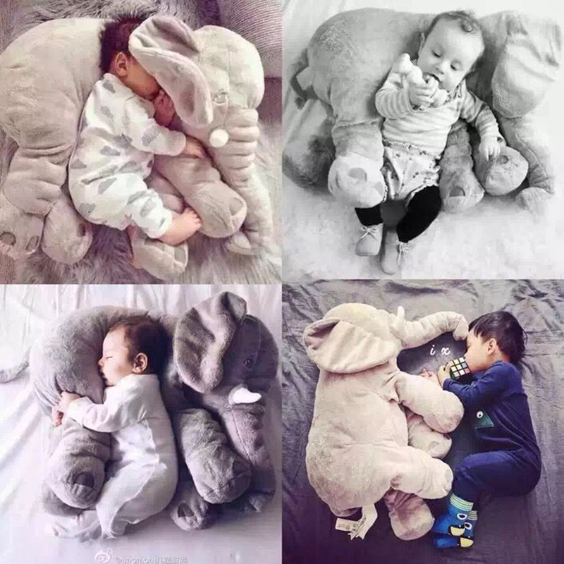 5Color Elephant Soft Automotive Baby Sleep Pillow Baby Crib Foldable Baby Bed Car Seat Cushion Kids Portable Bedroom Bedding Set baby elephant plush toy elephant baby pillow for children crib foldable kids dolls seat cushion babies newborn photography props