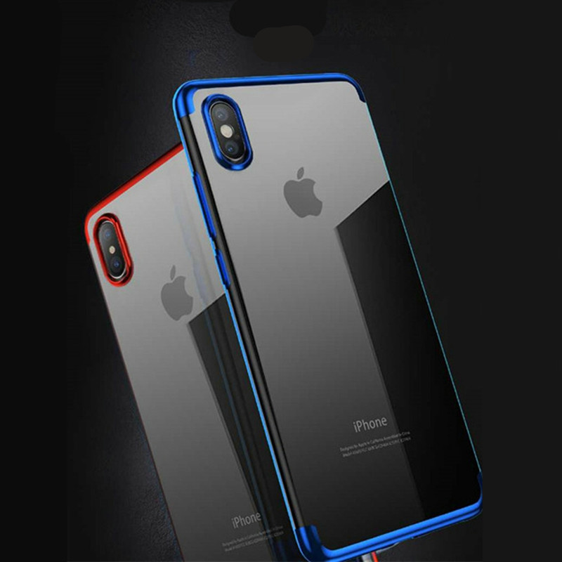 Gradient TPU Case Phone for iPhone Xs/ XR/ Xs MAX Plating Color Soft Cover Luxury 6 6s 7 8 plus