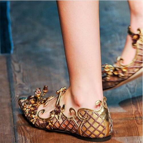 2017 Shoes Woman Loafers Luxury Brand Real Leather Pointed Toe Buckles Soft Leather Women Shoes Flats Sandals Party Shoes Woman slhjc 2017 autumn flat heel shoes pointed toe women flats with metal chain real fur loafers work shoes d25