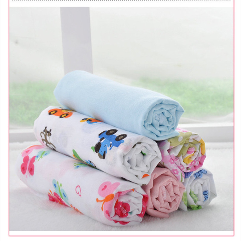 75 75cm 5 pieces Cotton Soft Gauze Bath Towel Baby Nappy Changing Diapers Swaddles Newborn Baby
