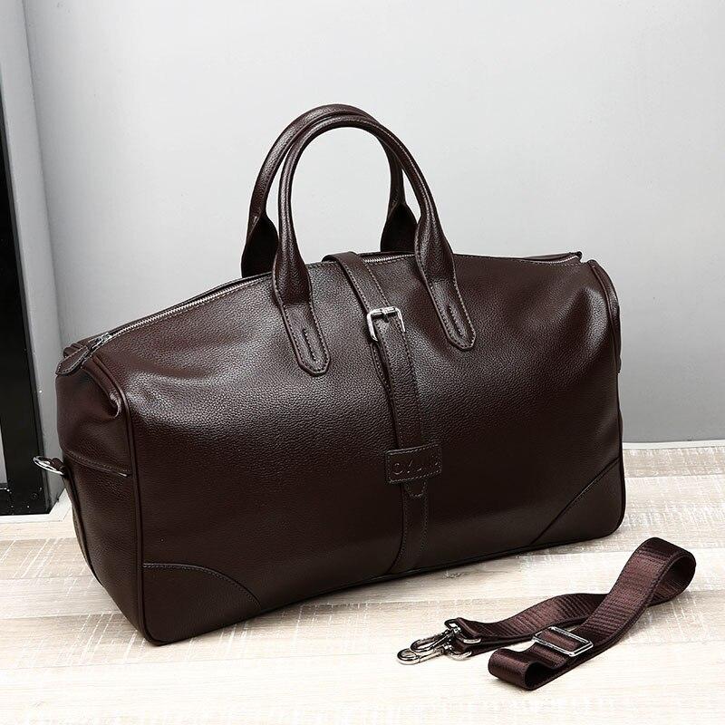 Nouvelle grande capacité hommes sacs de voyage Simple sac à main noir sac polochon pour voyage décontracté marque sac de voyage pour homme sac à bandoulière