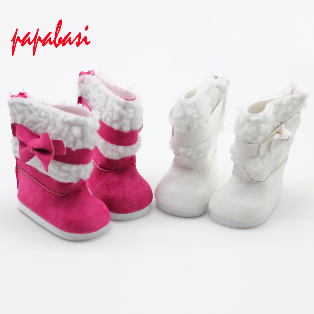 Stylish 18 Inch Doll Boots Fits 18 Inch American Girl Dolls More Suede Style Boots W