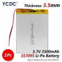 3,7 V 3500mah (batería de iones de litio de polímero) batería de iones de litio para tableta pc MP3 MP4 juguete eléctrico [357095] reemplazar las baterías [357090]