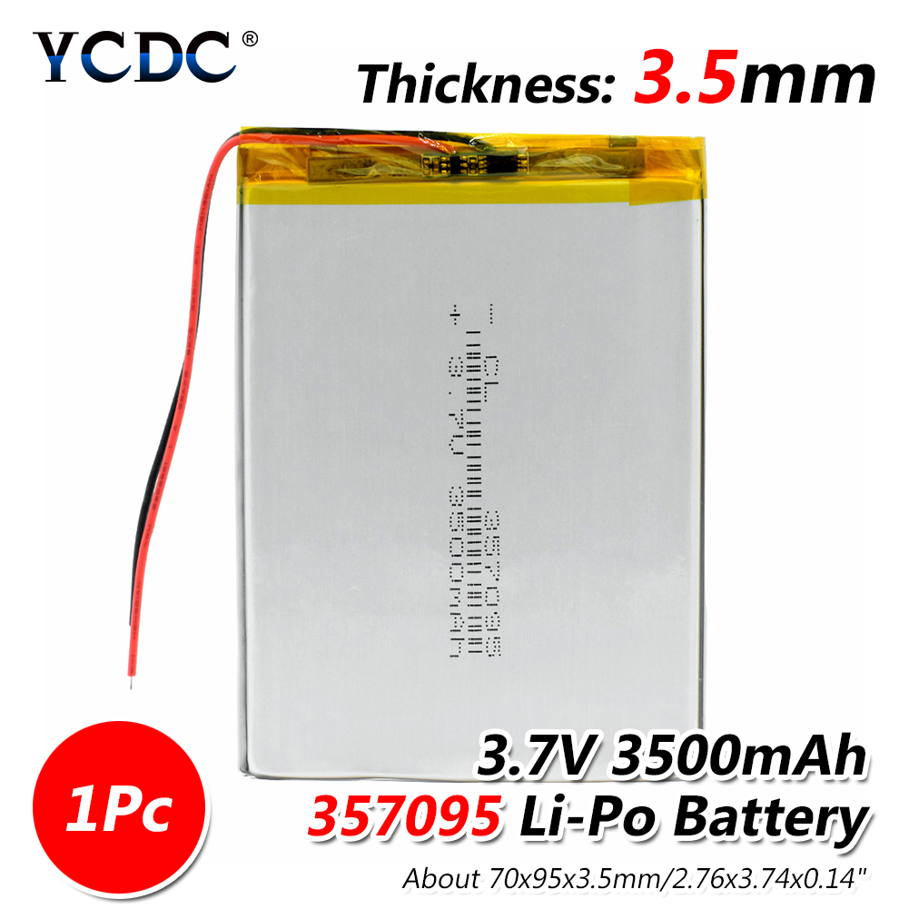 3.7V 3500mah (polymer lithium ion battery) Li-ion battery for tablet pc MP3 MP4 Electric Toy [357095] replace [357090] Batteries 5 pcs lot 3 7v 4000mah li ion battery for tablet pc 7 inch mp3 mp4 [357095] 357095 3 5mm 70mm 95mm 3 7v 4000 mah