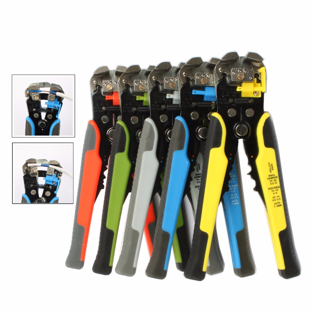цена на 0.2-6.0mm2 Cable Wire Stripper Cutter Crimper Automatic Multifunctional plier TAB Terminal Crimping Stripping Pliers Tools