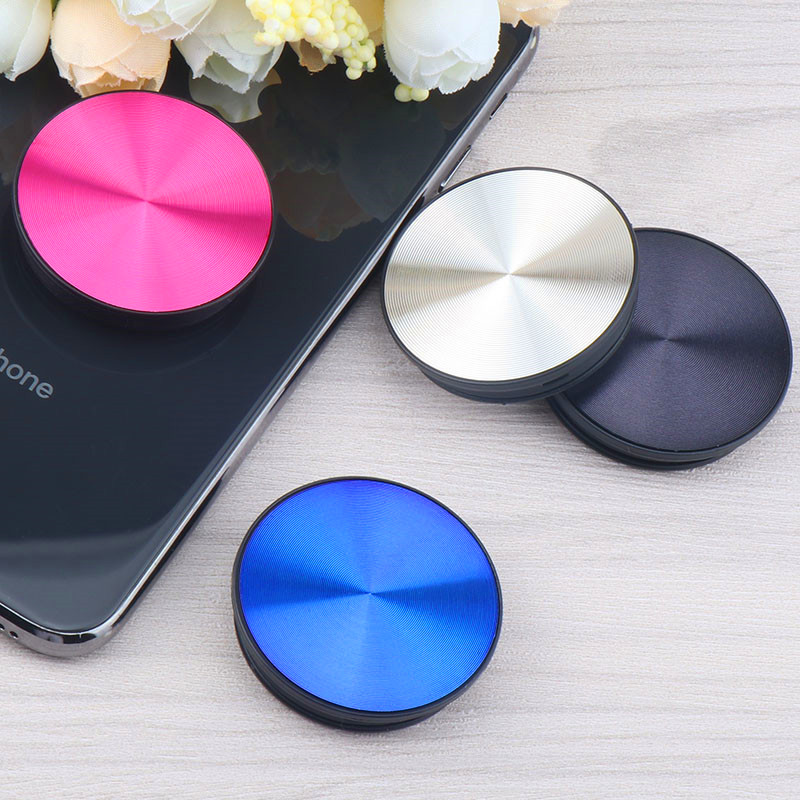 CD Pattern Anti-Drop Mobile Phone Holder Flexible Extensible Airbag Phone Round Stand Gasbag Bracket Mount For IPhone Xs Samsung