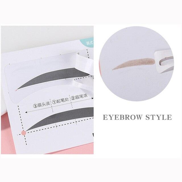 5pcs/lot Multi-use Eyebrow Stencils Stickers Natural Eyebrow Shape Card Template Eyebrow Helper Modeling Brow Lazy Beauty Tool 2
