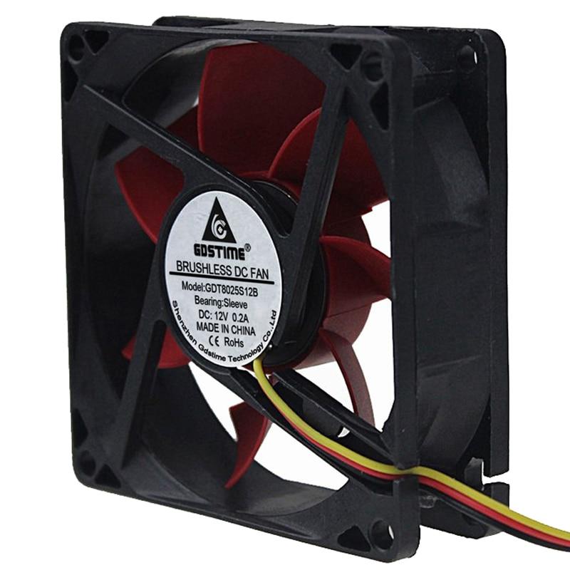 80mm x 80mm x 25mm 12V 3PIN DC Computer CPU Case Heatsink Cooler Cooling Fan
