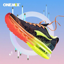 Onemix Air Cushion Men Running Shoes Breathable Mesh Male Sport Sneaker Light Athletic Shoes zapatillas Trainers Jogging Shoes onemix brand running shoes men light weight athletic sneakers mesh breathable sport trainers for man music rhythm max size 12