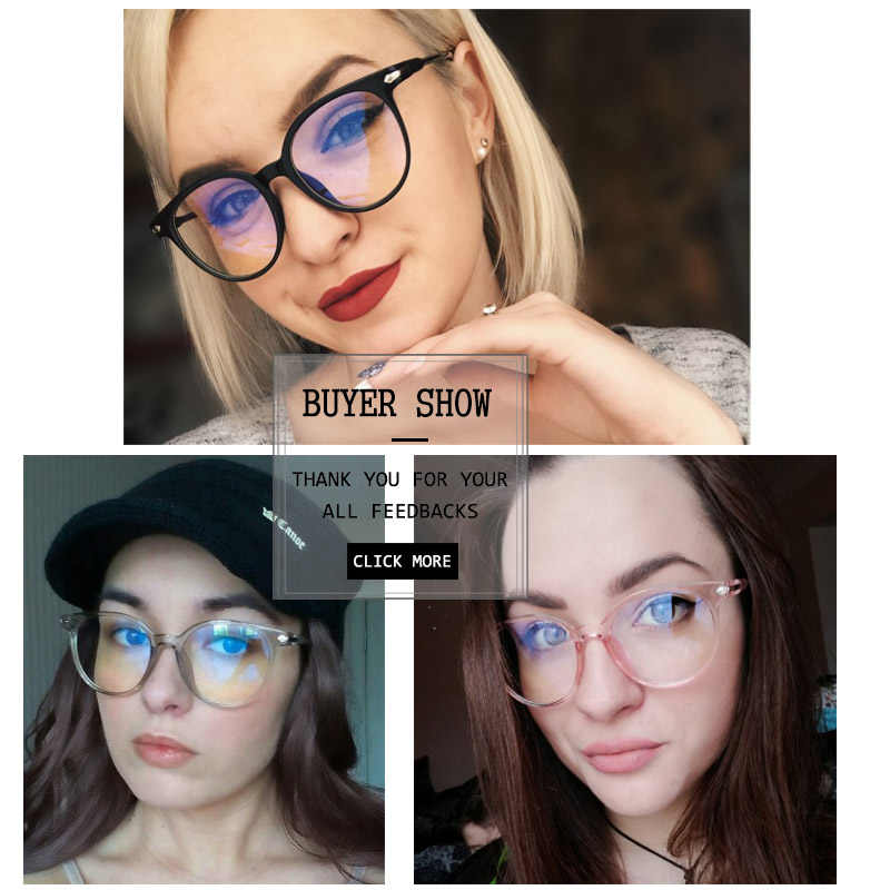 Korean Fashion Clear Glasses Frame Anti Blue Light Glasses Women Fake Glasses Pink Optical Eyeglasses Frame Transparent Oculos