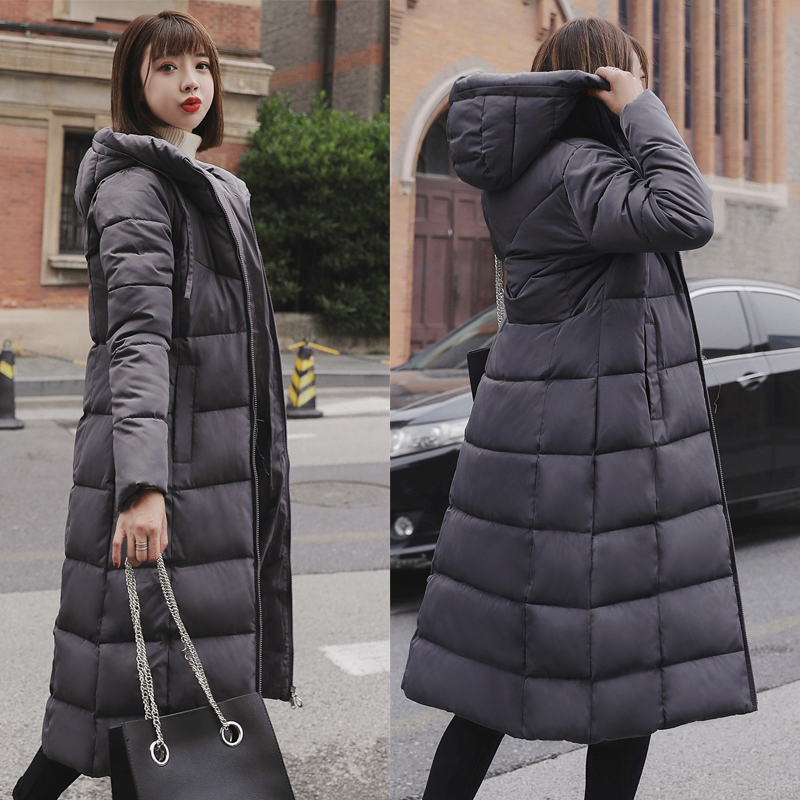 Plus Size 4XL 5XL 6XL womens Winter Jackets Hooded Stand Collar Cotton Padded Female Coat Winter Women Long Parka Warm Thicken 12