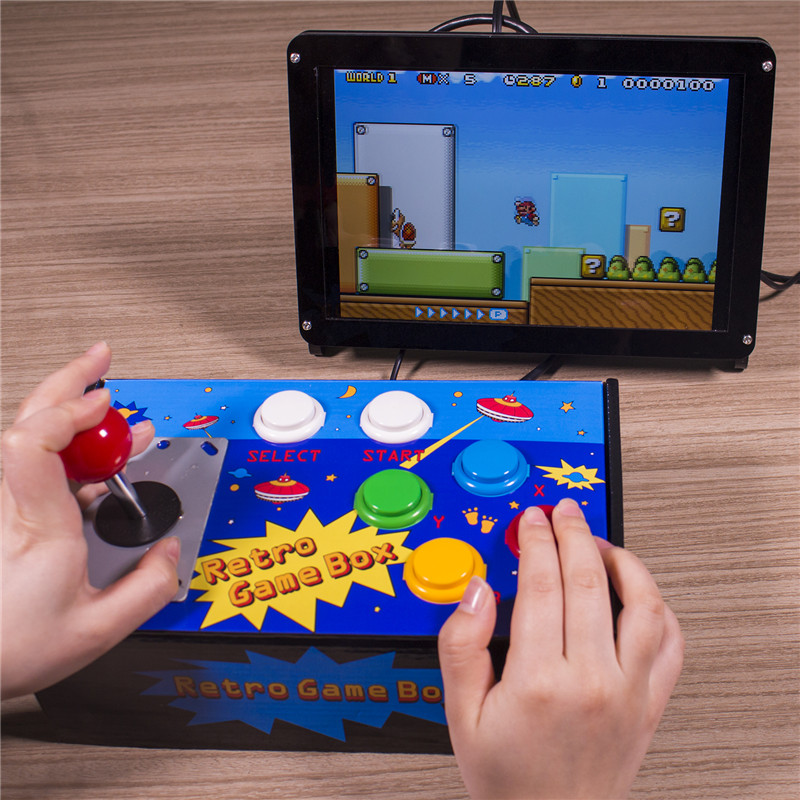 Sunfounder Raspberry Pi Retro Game Box Diy Arcade Fighting Joystick