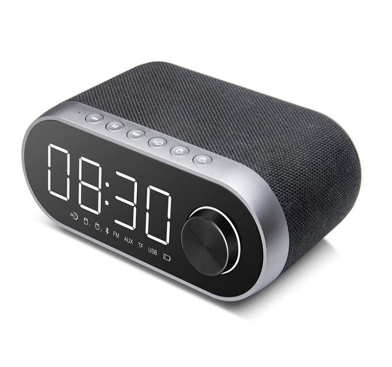 LP C12 Bluetooth Speaker Wireless Portable LED Alarm Clock with time projection portable Speaker best selling