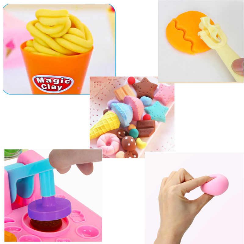 d384478a8 ... Baby Kids DIY Play Dough Clay Mold Tools Kit Girl Polymer Ice Cream  Cake Plasticine Set ...
