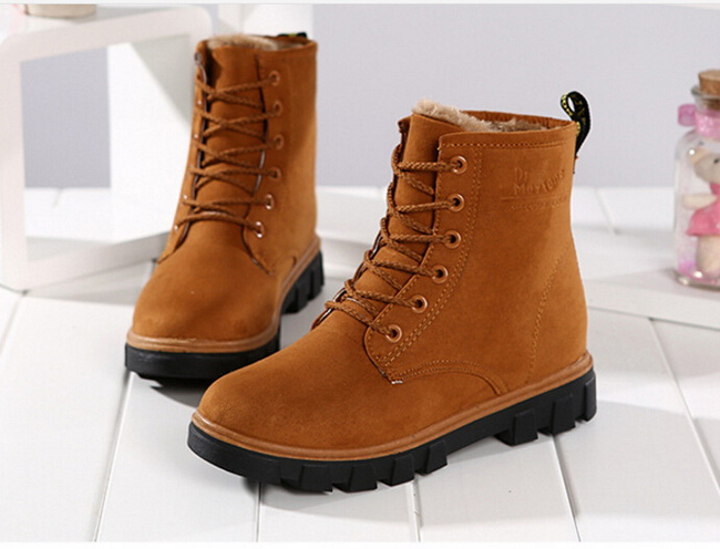 2016 women winter boots women winter shoes flat heel ankle purple boots  casual cute warm shoes fashion snow boots women s boots-in Mid-Calf Boots  from Shoes ... e19759723