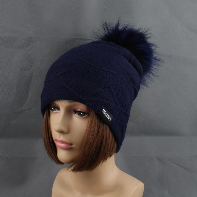 2019 Womens Topi Bulu Hangat Di Dalam Topi Beanie Gadis Musim Dingin - Aksesori pakaian - Foto 5