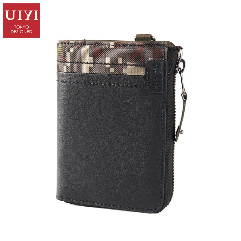 UIYI Brand New arrival Men Portable Wallet Bags Fashion passport cover For Male Casual Purse Top Quality handbags For Male 2018