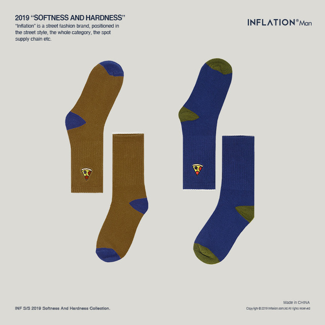 INFLATION Men 2019 Long Socks Men Funny Socks Hip Hop Harajuku Bamboo Men Socks 950AI2019