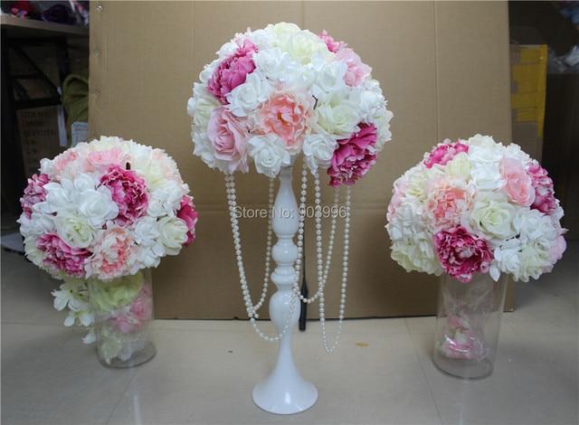spr free shipping 10pcs lot wedding road lead artificial flower rh aliexpress com flower balls for wedding centerpieces uk