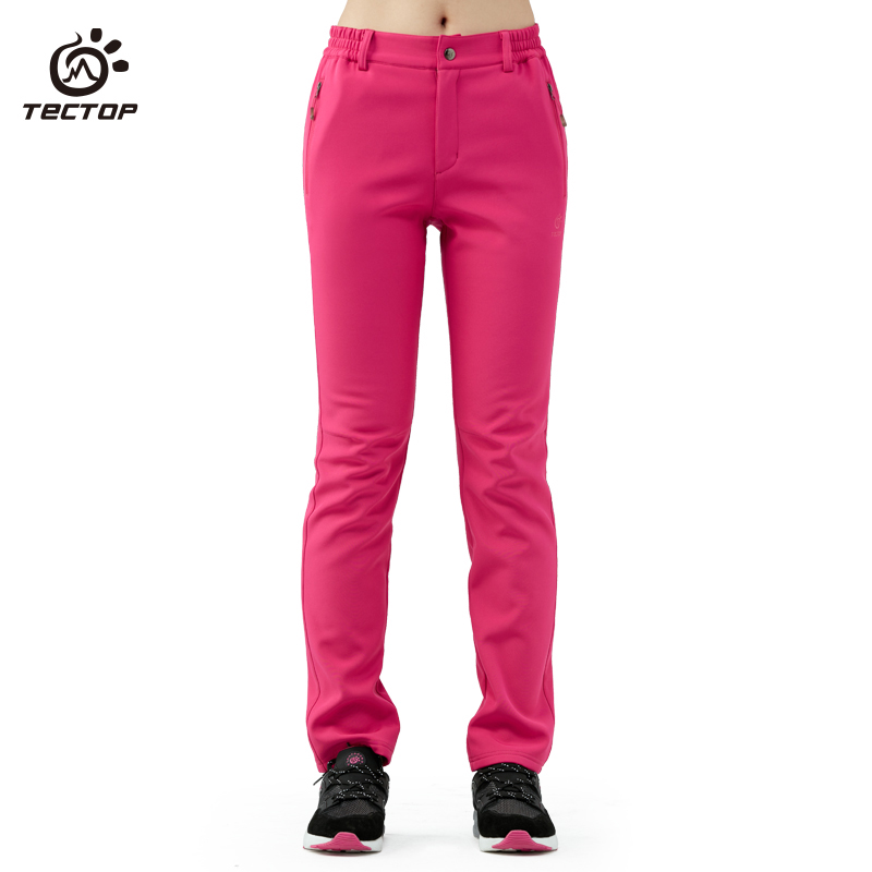 Tectop fleece Pants Female outdoor sports Spring Autumn winter thicken sport travelling climbing hiking pants trousers women