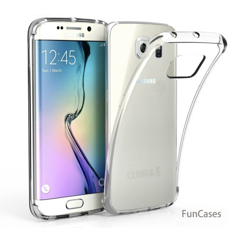 Ultra Thin Soft Transparent TPU Case for samsung galaxy A6 A8 J4 J6 2018 S3 S4 S5 Mini S6 J1 J3 J5 <font><b>J7</b></font> A3 A5 A7 2016 <font><b>2017</b></font> Case image