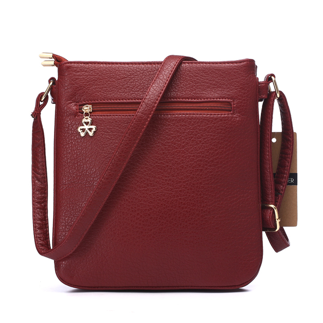 Women Messenger Bags Pu Leather Flap Bag Cartoon Printing Shoulder Crossbody Bag Double Zipper Bag 3