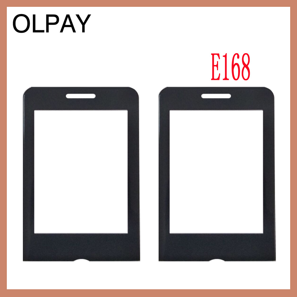 OLPAY New Mobile Phone Lens For Philips Xenium E168 E 168 Front Panel Lens Not Glass Touch Screen With Free Adhesive+Wipes