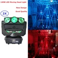 2Pcs/Lot 9X12W RGBW 4IN1 Led Beam Moving Head Spider Light Endless Rotation 130W High Power Effect Lights Free Shipping
