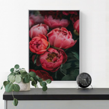 цена на Flowers Rose Wall Pictures Wall Art Canvas Painting Peony Canvas Art Print Home Decor Love Romantic Posters And Prints Unframed