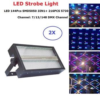 цена на Dj Decorations 144Pcs SMD 5050 RGB 3IN1 LED Strobe Light DMX 512 Control With 216PCS 5730 LED Flash Light Wedding Club Lighting