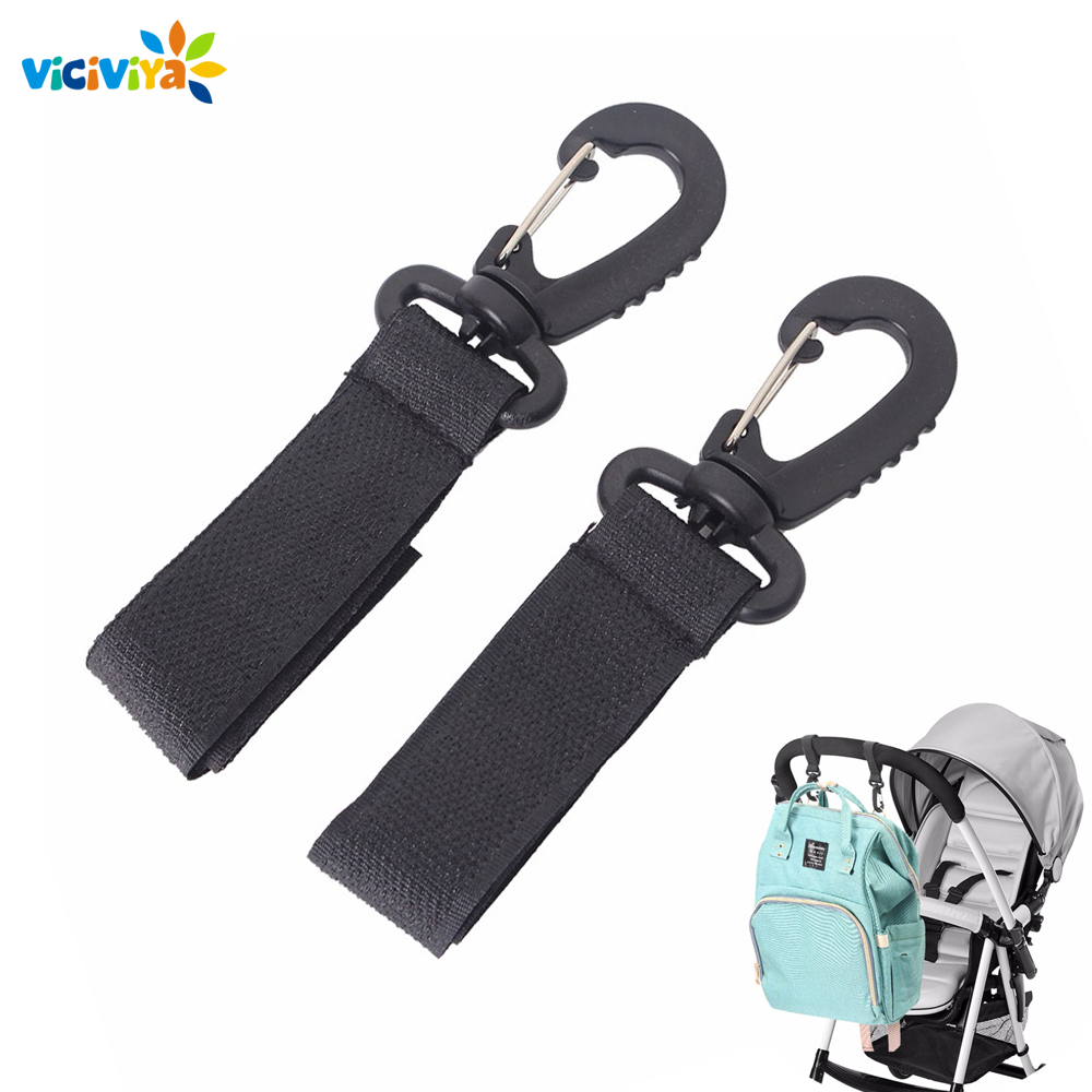 2pcs Stroller Hooks Wheelchair Stroller Pram Carriage Bag Hanger Hook Baby Strollers Shopping Bag Clip Stroller Accessories(China)
