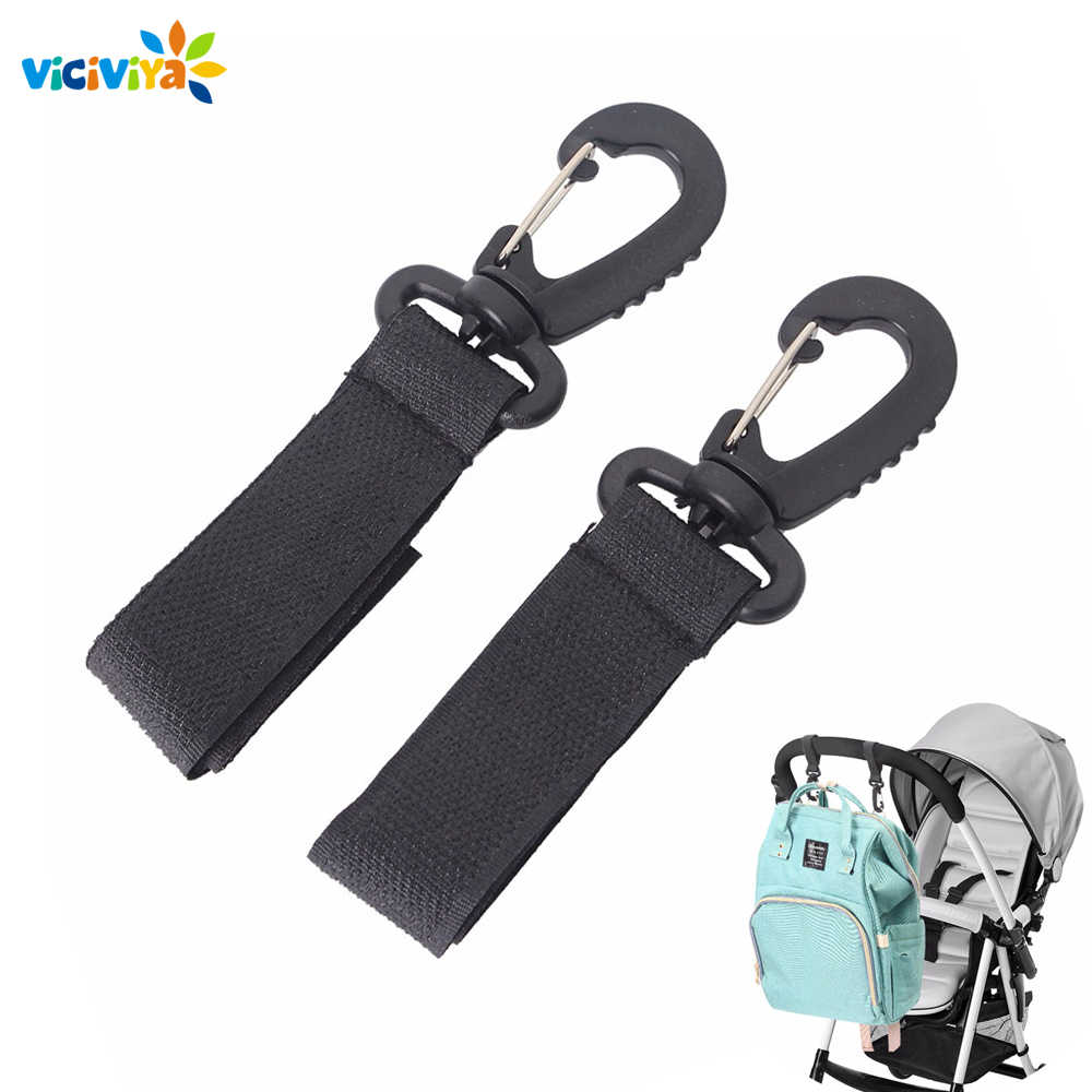 2pcs Stroller Hooks Wheelchair Stroller Pram Carriage Bag Hanger Hook Baby Strollers Shopping Bag Clip Stroller Accessories