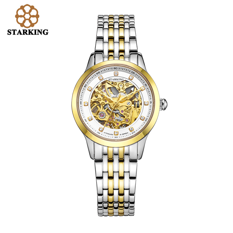 Starking Genuine Women automatic mechanical Watch self-wind sapphire watches ladies fashion business female clock