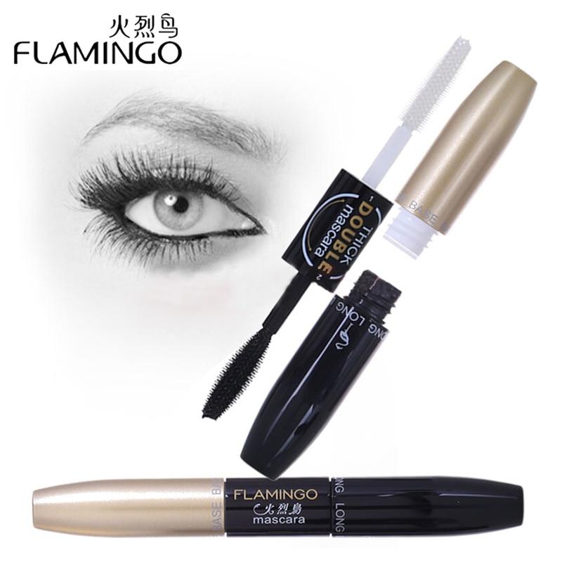 FLAMINGO Brand Makeup Mascara Waterproof Dual-heads Mascara Curling and Thick Rimel Mascara 6208