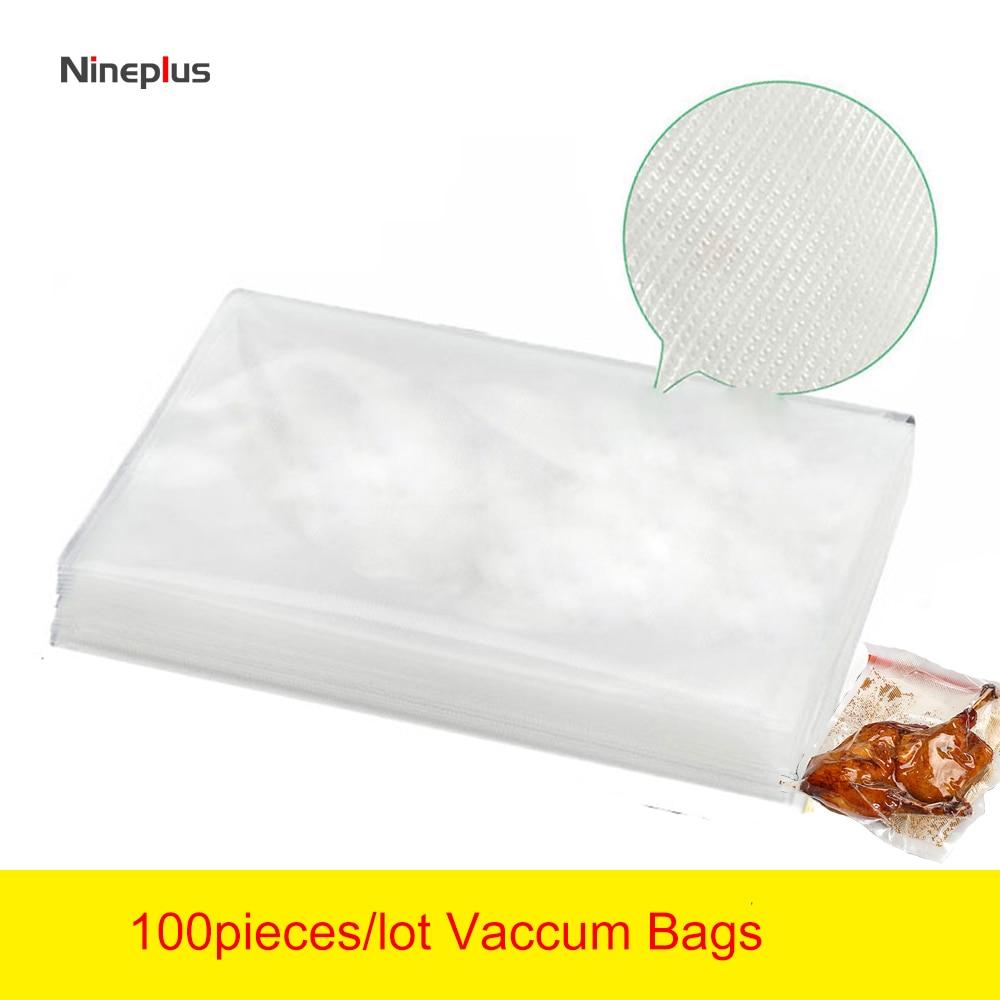 100 Pieces/lot Vaccum Bags 7*10cm Kitchen Appliances Vacuum Sealer Packing Machine Food Bag