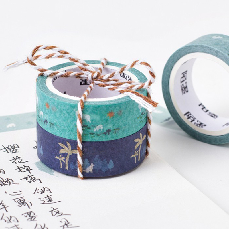 6Pcs 15mm Dreamy Washi Tape DIY Bullet Journal Decorative Adhesive Masking Tape Stickers Scrapbooking Cute Stationery Supplies in Office Adhesive Tape from Office School Supplies