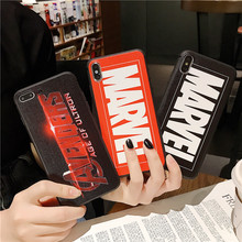 Marvel Case For Iphone X Xs Max Xr 10 8 7 6 6s Plus soft silicone phone cover 3D Super relief Luxury Couple Anime Coque Fundas цена и фото