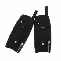 2pcs V2 500M BT Bluetooth Interphone Motorcycle Helmet Intercom Wireless Headset 2 Riders Motorbike Moto Communication