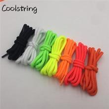 Coolstring яркие цвета 5 мм Спиральные круглые полиэфирные шнурки Новинка спортивные шнурки для альпинизма Баскетбольная обувь шнурки