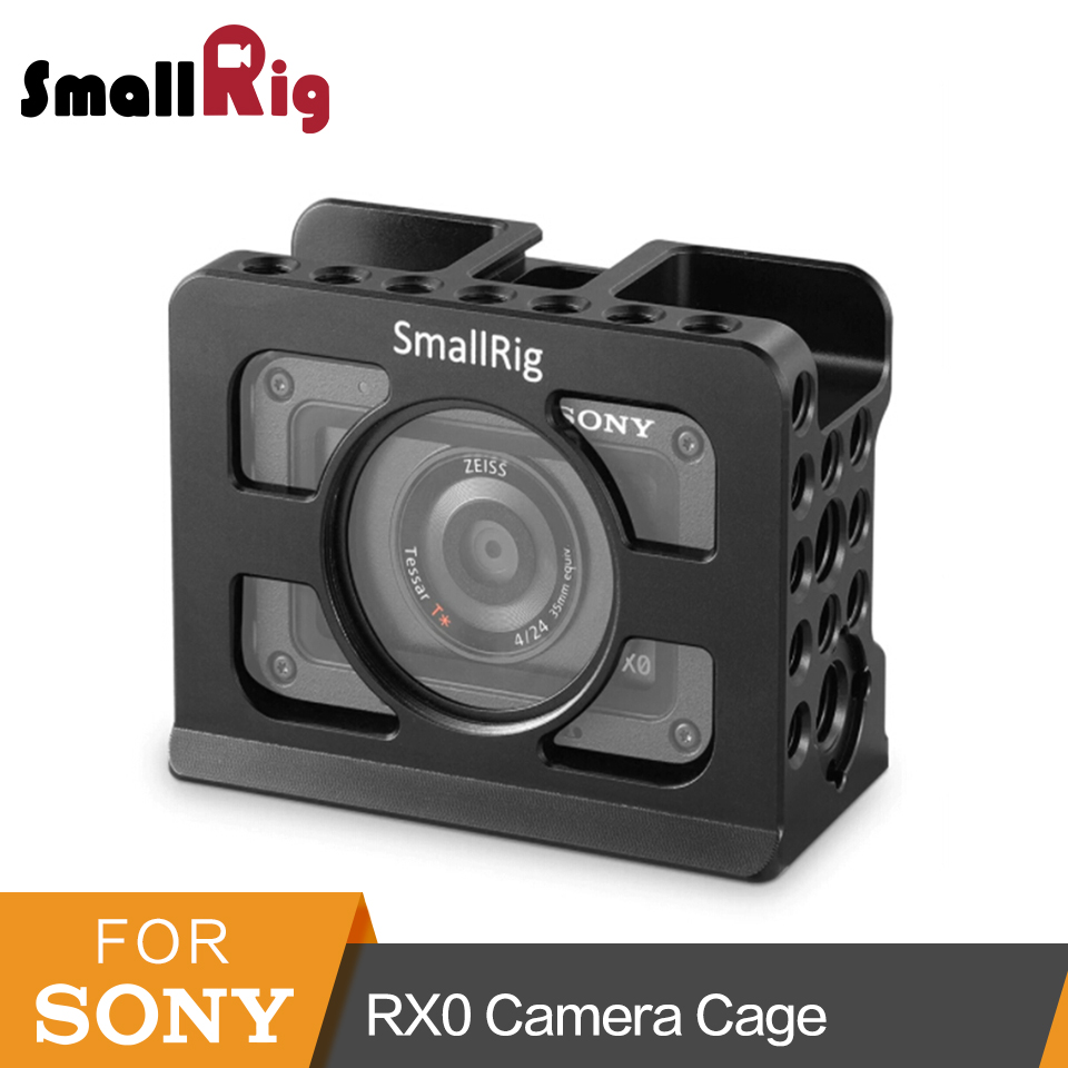 SmallRig for Sony RX0 Camera Cage With Built-in Arca Swiss To Mount Tripod/Monitor -2106 smallrig mount for samsung t5 ssd card holder mount compatible with smallrig cage for bmpcc 4k 2203 2245
