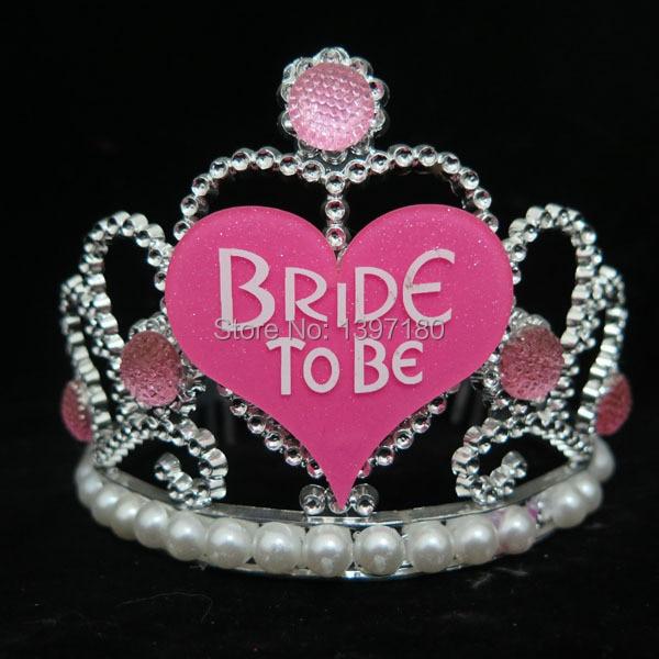 Bachelorette Party Accessories Bride To Be Tiara Pearl Diamond Hair Headband Hen Nights Supplies