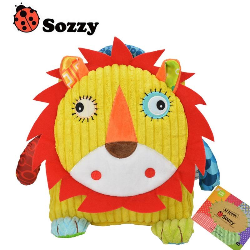 1pcs Sozzy Cute Kid Plush School Backpacks 25cm Animal Figure Bag Kid Girls Boys Gifts Toy Owl Cow Frog Monkey Schoolbag