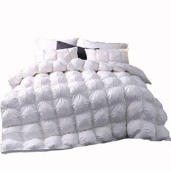 White Luxury Bread Duvet Filling Goose Duck Down Winter warmest Comferter Quilt Blanket with 2.5~4.1kg Filler #s