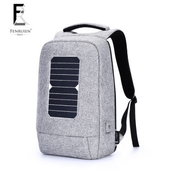 FENRUIEN USB Solar Powered Charge Backpack for Men Women Laptop Backpack 15.6 inch Waterproof Business Fashion Travel Backpack 1