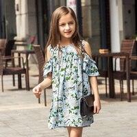 6 15Y Summer Flower Toddler Girls Dress 2017 New Fashion Kids Party Clothes Children S Princess