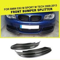 المصد الأمامي سبويلر الشفة لسيارات BMW E82 E88 كوبيه للتحويل م سبورت 2008 2013 مُفسدة من ألياف الكربون اللوحات cupsuites-في مصدات من السيارات والدراجات النارية على