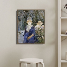 Woman in a Garden by Berthe Morisot Art Canvas Poster and Print Painting Decorative Picture for Living Room Home Decor